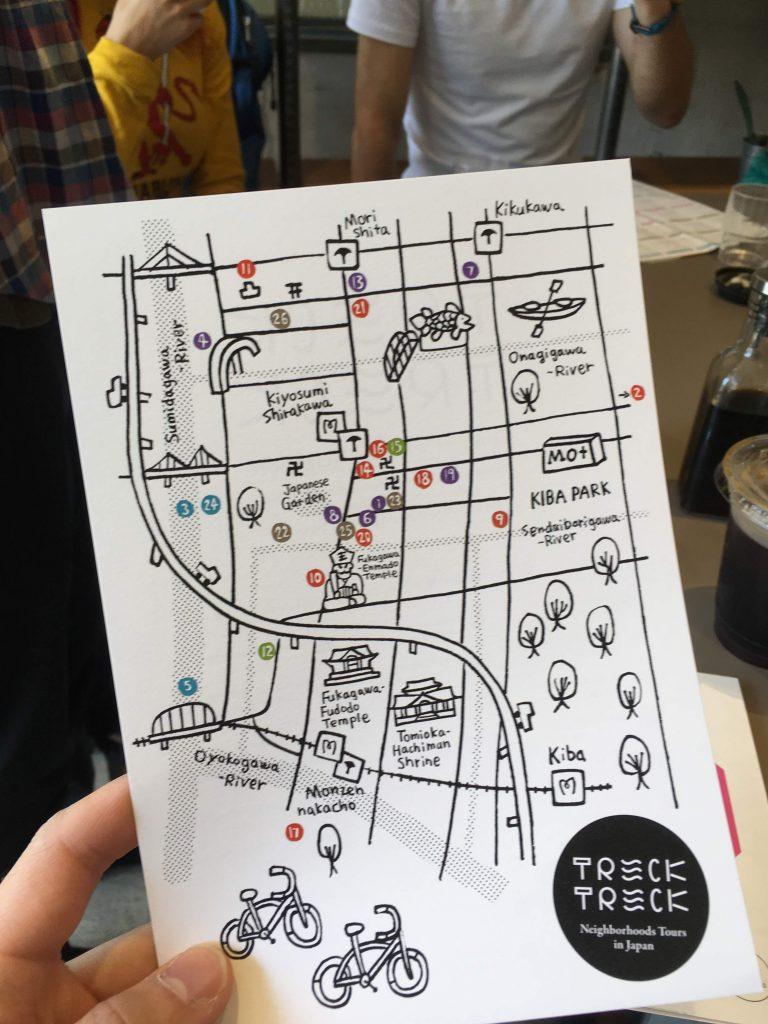 TrekTrekのツアーマップ
